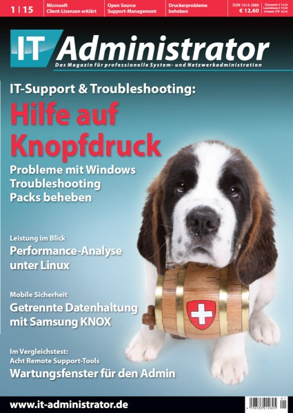 Ausgabe Januar 2015 IT-Support & Troubleshooting