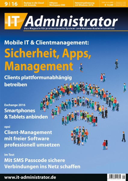 Ausgabe September 2016 Mobile IT & Clientmanagement