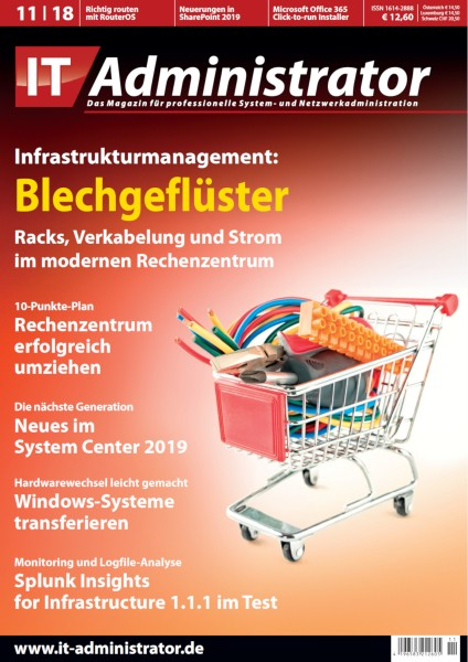 Ausgabe November 2018 Infrastrukturmanagement