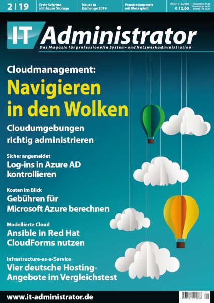 Ausgabe Februar 2019 Cloudmanagement