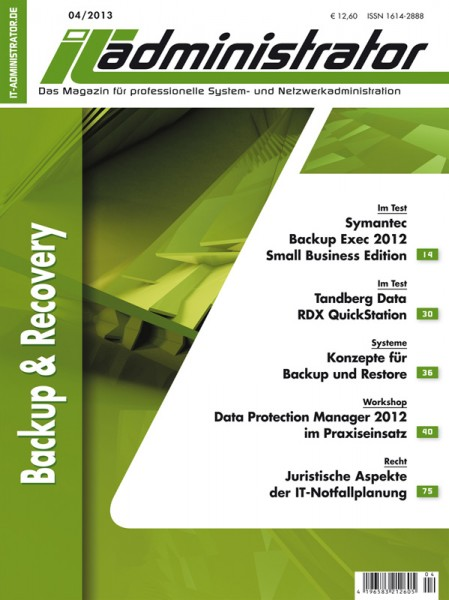 Ausgabe April 2013 Backup & Recovery