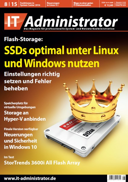 Ausgabe August 2015 Flash Storage