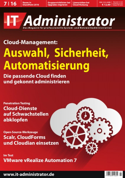 Ausgabe Juli 2016 Cloud-Management
