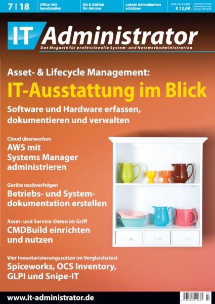 Ausgabe Juli 2018 Asset- & Lifecycle-Management