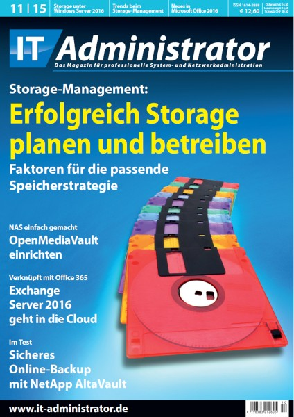Ausgabe November 2015 Storage-Management
