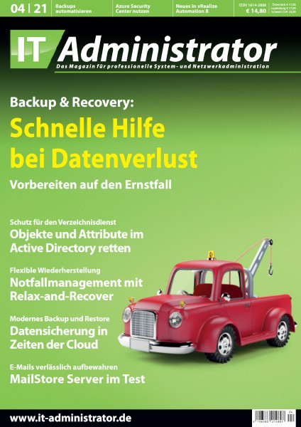 Ausgabe April 2021 Backup & Recovery