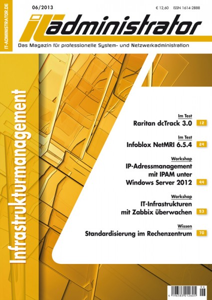Ausgabe Juni 2013 Infrastrukturmanagement