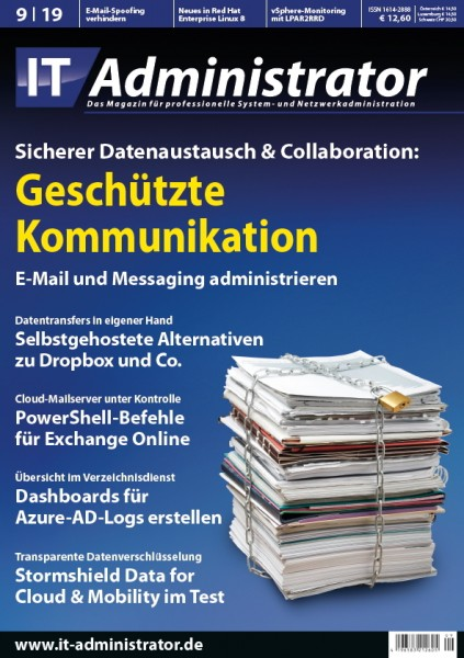 Ausgabe September 2019 Sicherer Datenaustausch & Collaboration