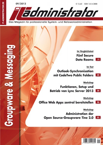 Ausgabe September 2013 Groupware & Messaging