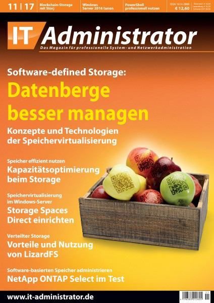 Ausgabe November 2017 Software-defined Storage